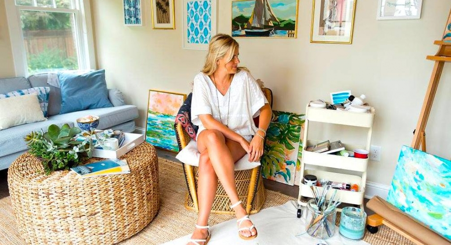 Milk and Honey Magazine interview with Lilly Pulitzer designer Abbey Holden on her artistic style, her faith, and her fitness routine/diet!